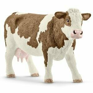 Vache tachetée rouge