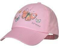 Casquette rose imprimée papillons brillants