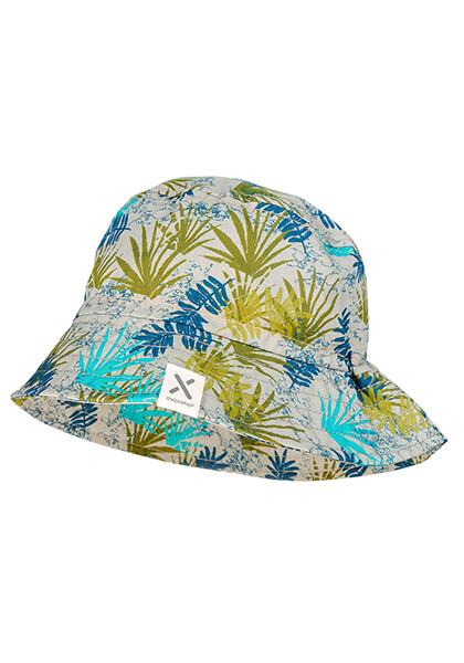 Chapeau kaki imprimé jungle végétal