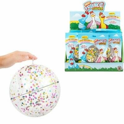 Balles molles avec confettis, yoyo et gonflable jusqu'à 50 cm de diamètre