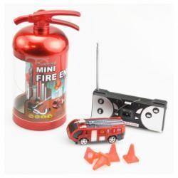 Mini camion de pompier télécommandé dans extincteur