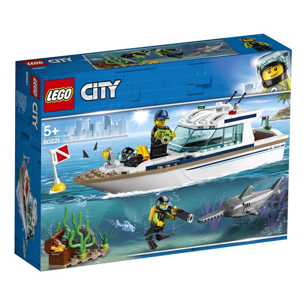 Lego City le yacht de plongée bateau