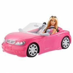 Barbie avec voiture cabriolet rose