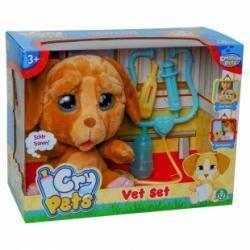 Cry Pets chien interactif en peluche, je bois et je pleure pour de vrai!