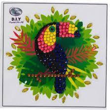 Crystal Art Toucan 9x9 cm autocollant