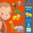 Djeco Puzzle géant Ouistiti et ses amis 4-6-9 pièces