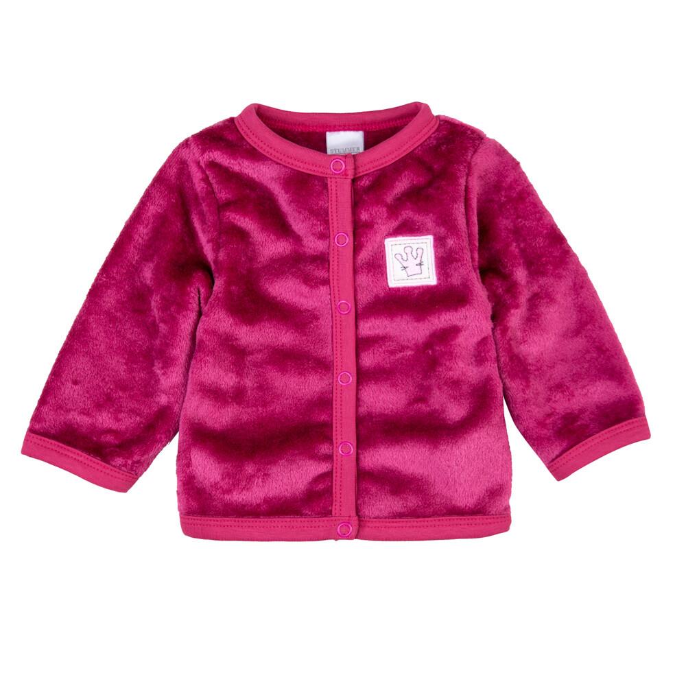 Jaquette polaire prune logo couronne rose