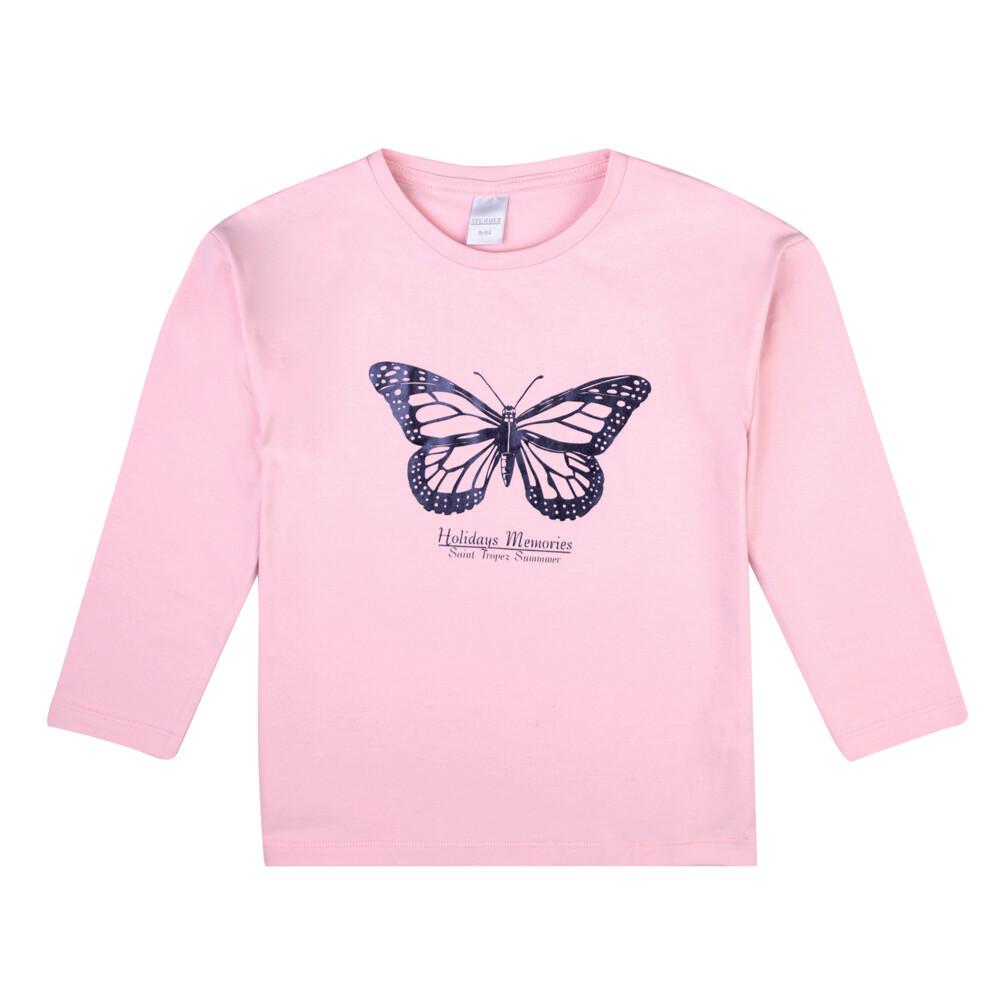 Pull rose imprimé papillon Holidays Memories