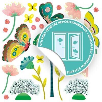 Stickers de fenêtres Papillons, DJECO