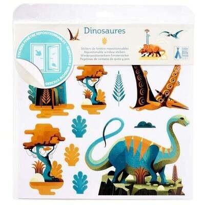 Stickers de fenêtre Dinosaures, DJECO