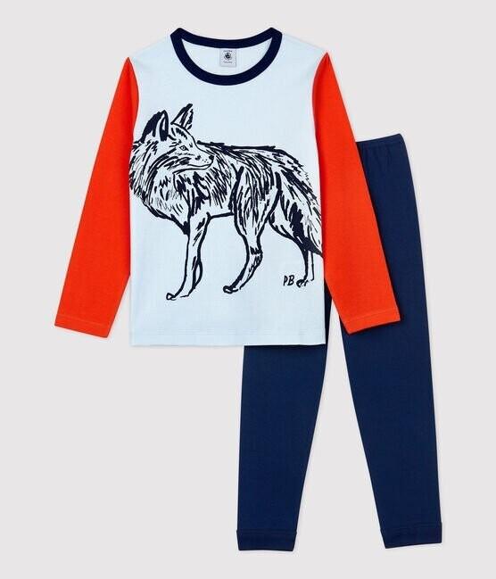 Pyjama coton imprimé loup Petit Bateau