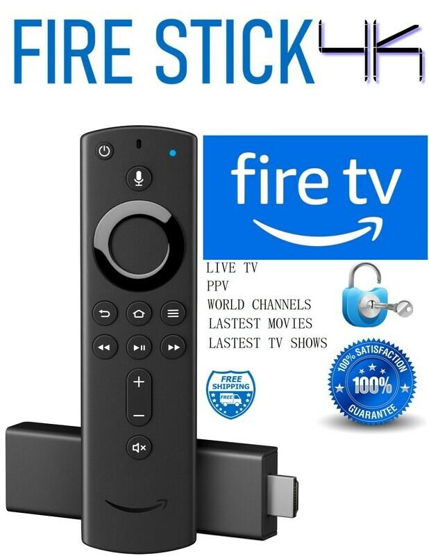 AMAZON FIRE TV STICK 4K ULTRA HD STREAMING MEDIA PLAYER jailbroken and unlocked WITH KODI
