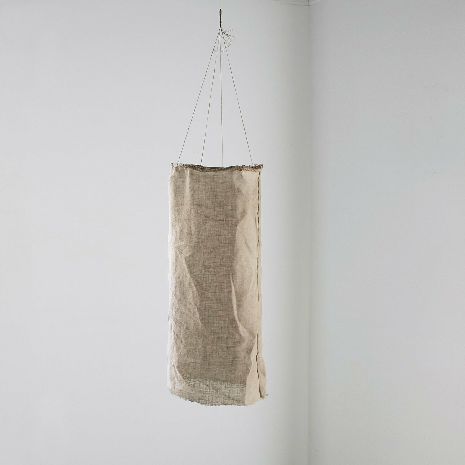 Fig and Honey Hand Dyed Linen Light and movement installation