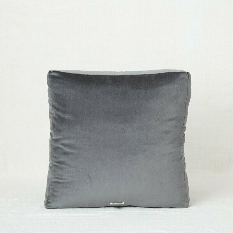 Fig and Honey Velvet Meditation Cushion, Charcoal
