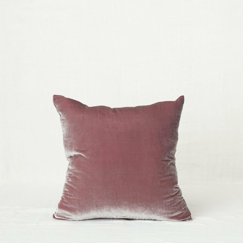 Fig and Honey Silk Velvet Cushion - Square