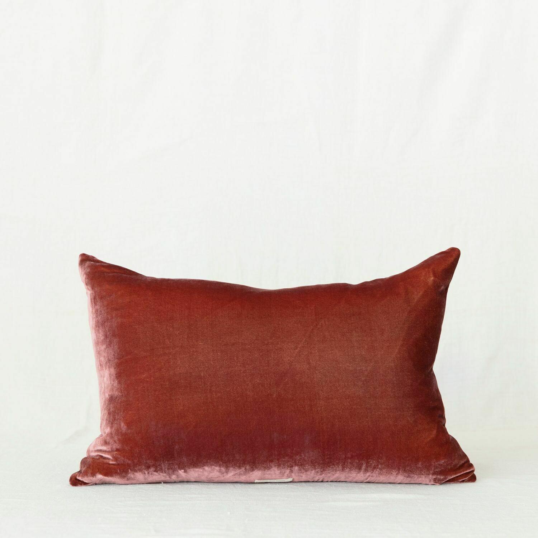 Fig and Honey Silk Velvet Cushion - Rectangle Fig