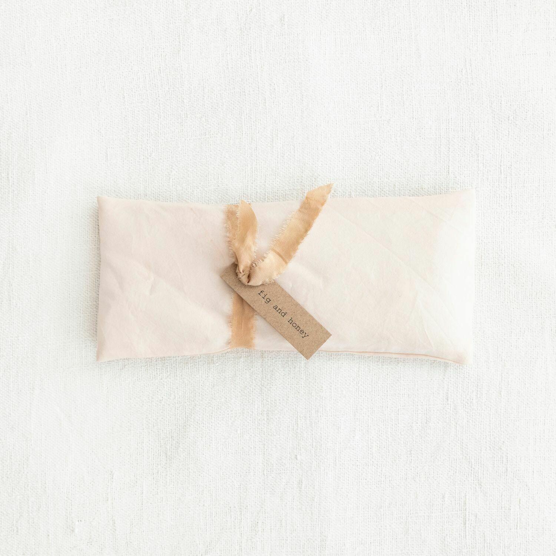 botanically dyed linen eye pillow, lotus