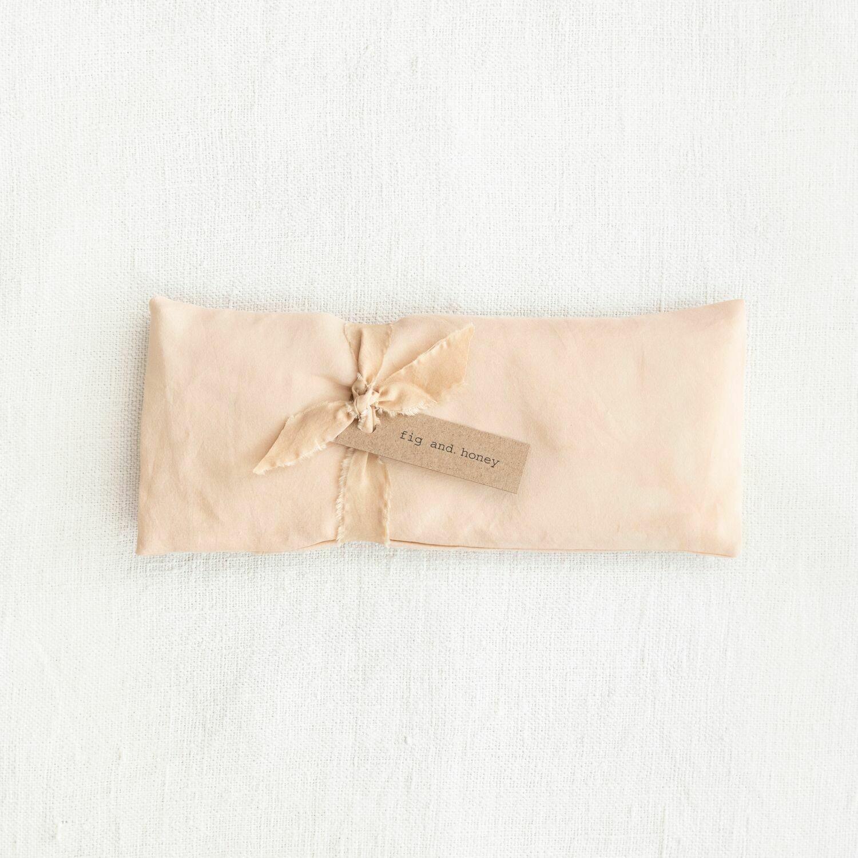 botanically dyed silk eye pillow, dune