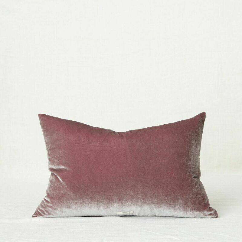 Fig and Honey Silk Velvet Cushion - Rectangle Dusk