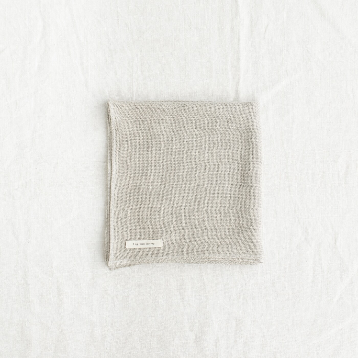Fig and Honey Belgian Linen Face cloth - Flax