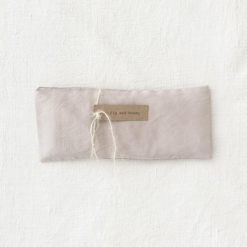botanically dyed silk eye pillow, lilac