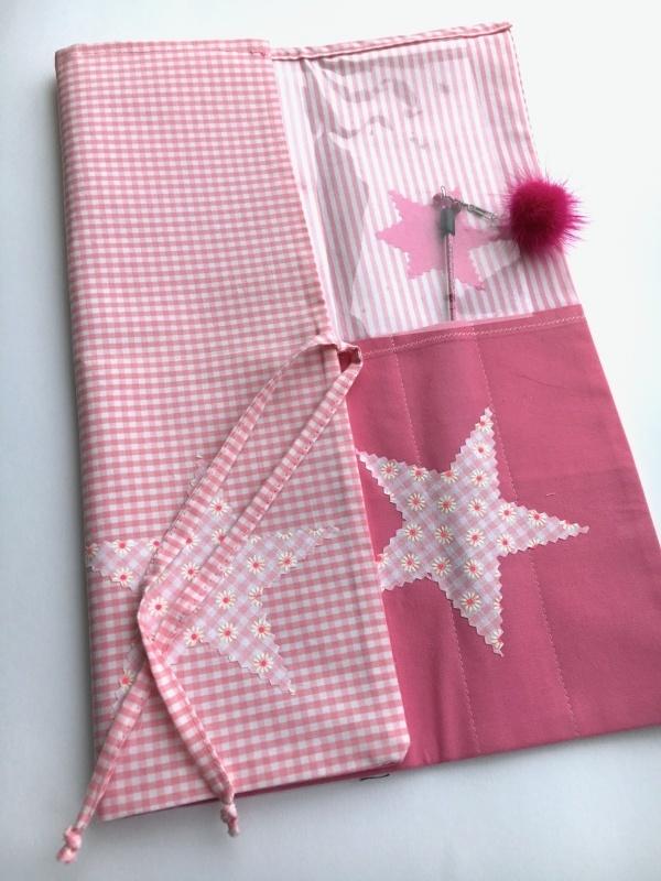 Wedeltasche Pink Stars