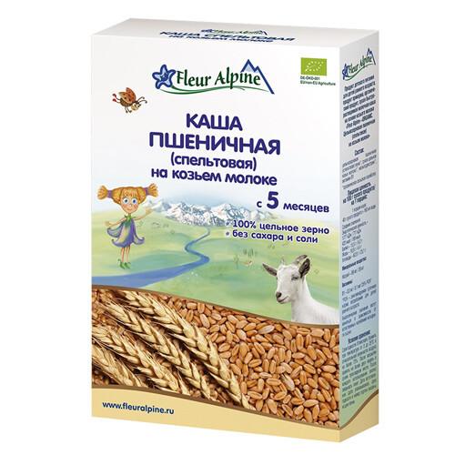 """Каша """"Пшеничная"""" (спельтовая), на козьем молоке Fleur Alpine 200г."""