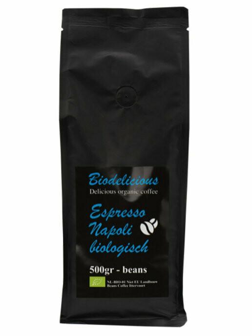 Эспрессо  наполитанский в зернах, органический, Bio Delicious,  500 г