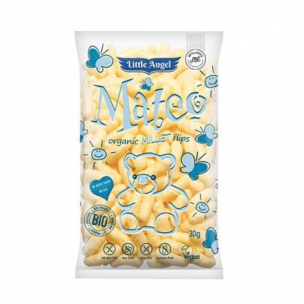 """Снеки кукурузные """"Mateo Millet"""", с пшеном Little Angel 30г"""