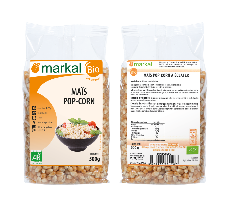 Зерна кукурузы для попкорн MARKAL 500г