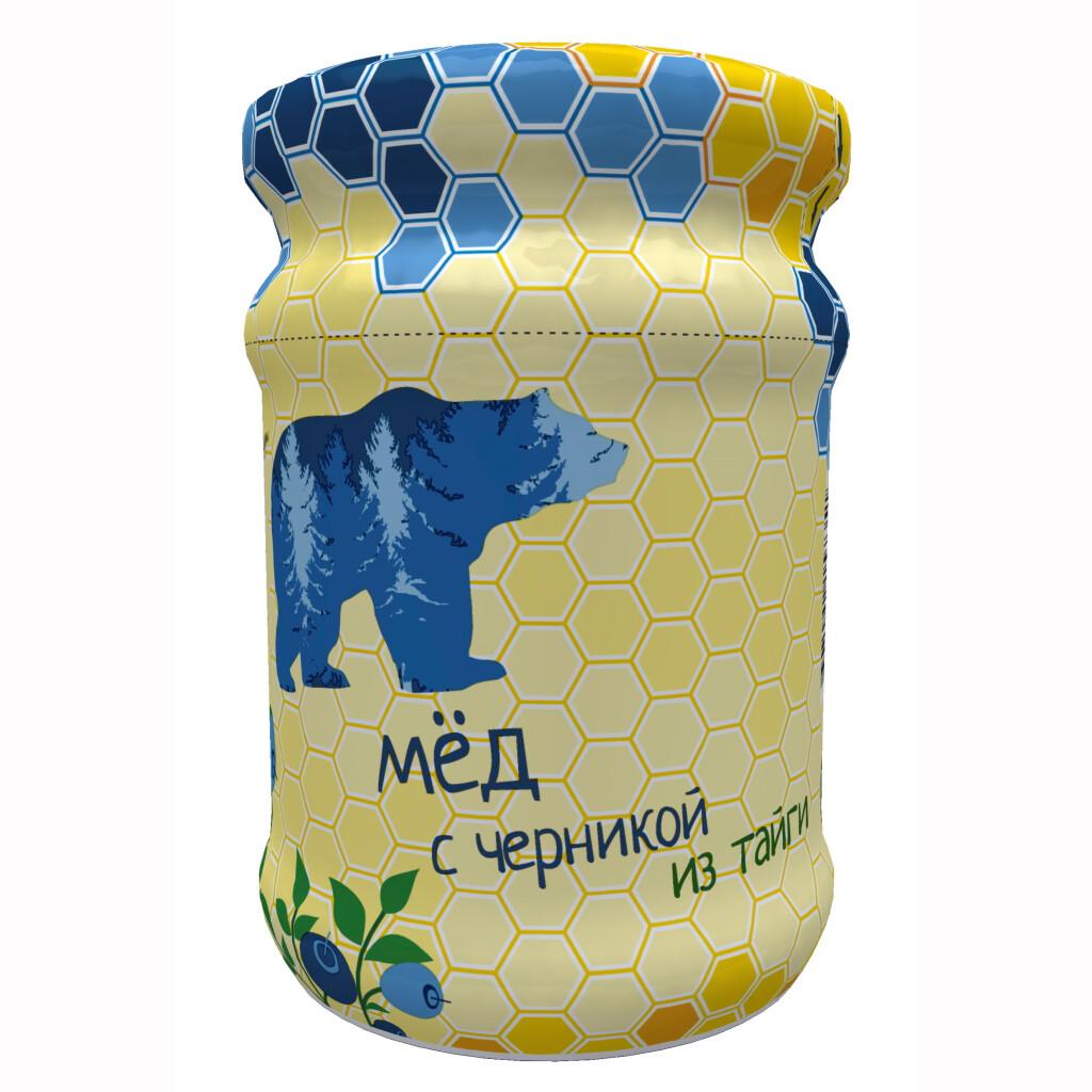 Мед с черникой Ягоды Карелии, 320г