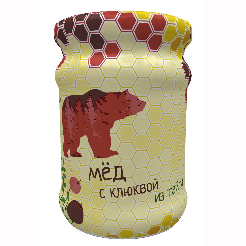 Мед с клюквой Ягоды Карелии, 320г