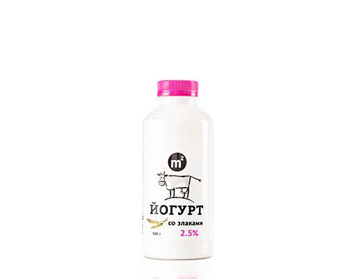 Йогурт питьевой 2,5% с злаками  Ферма М2, 500гр