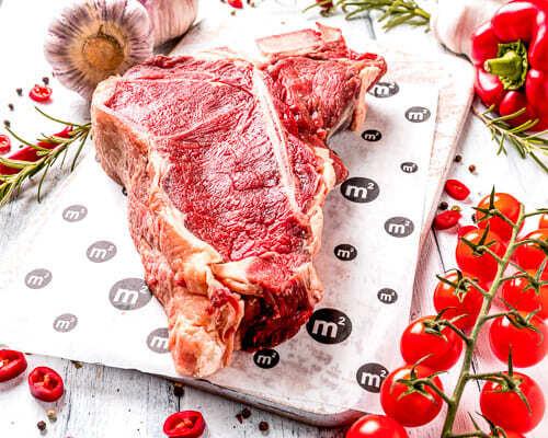 """Стейк Портерхаус из охлажденной говядины, """"Ферма М2"""", 1кг"""