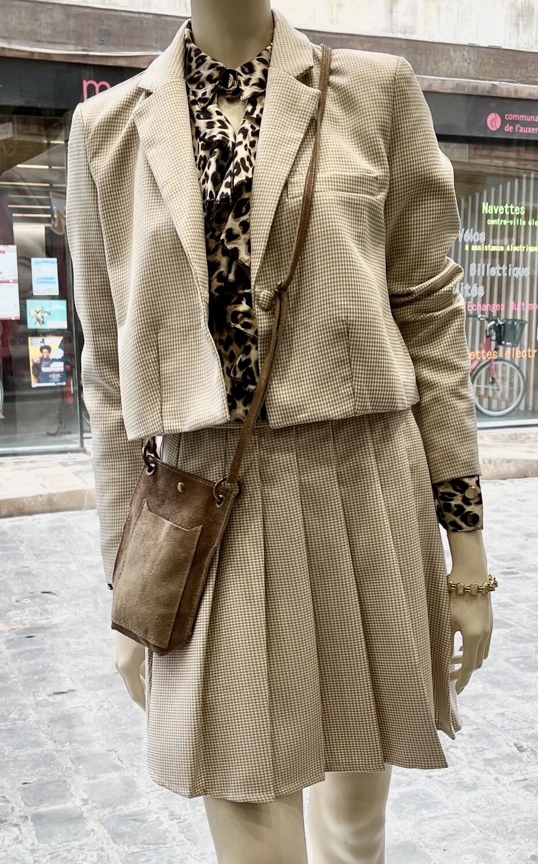 Jupe culotte plissée Elly
