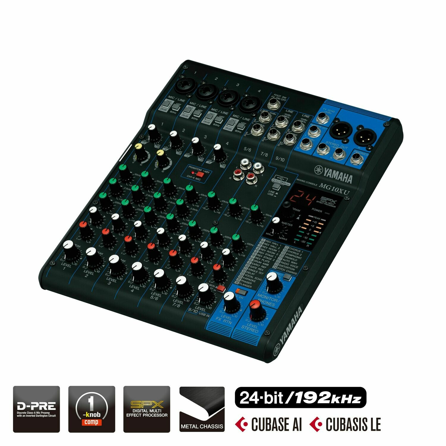 Yamaha MG10XU mixer (USB and FX function)