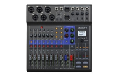 Zoom LiveTrak L-8 (compact podcast mixer, audio interface)