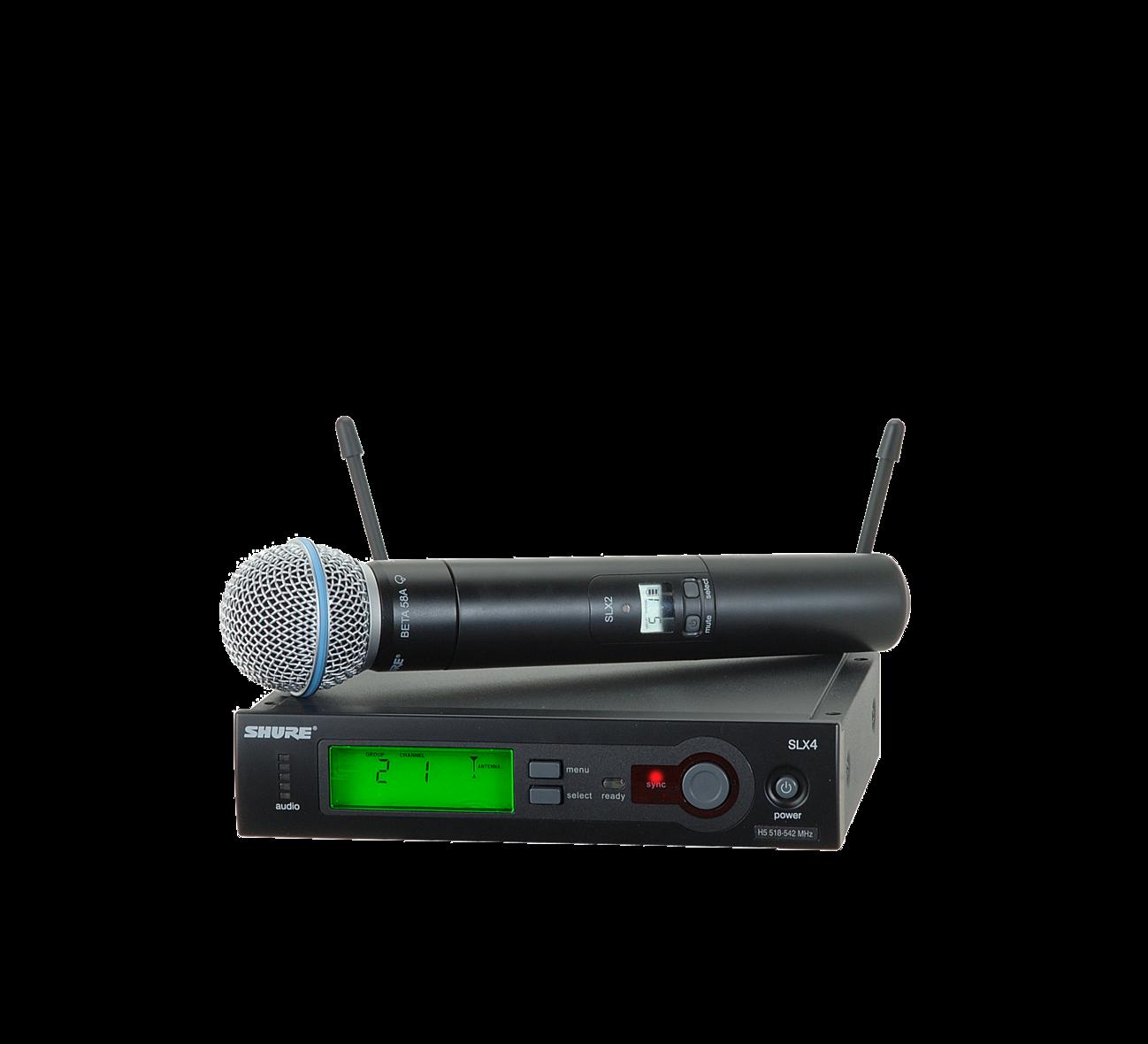 Shure SLX24/BETA58 (Wireless microphone System with SLX2/BETA58 Handheld Transmitter)