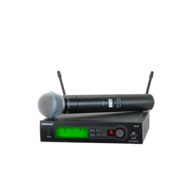 Shure SLX24/BETA58 (Wireless microphone System with SLX2/BETA58 Handheld Transmitter)