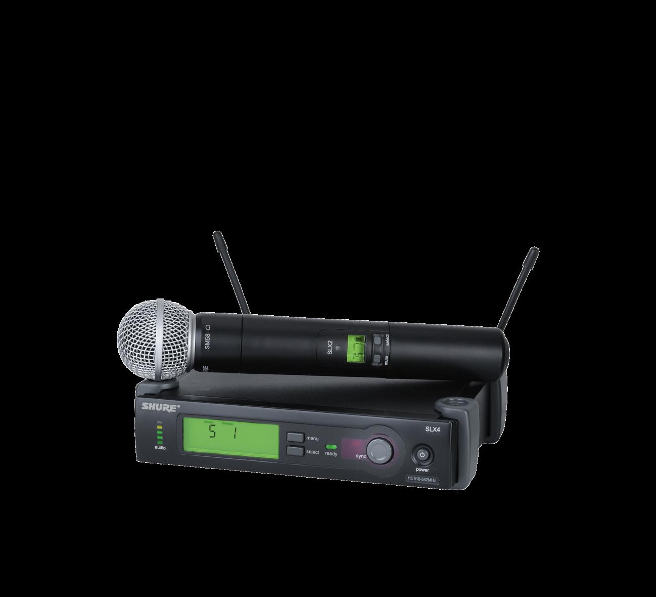 SLX24/SM58 (WIreless Microphone System with SLX2/SM58 Handheld Transmitter)