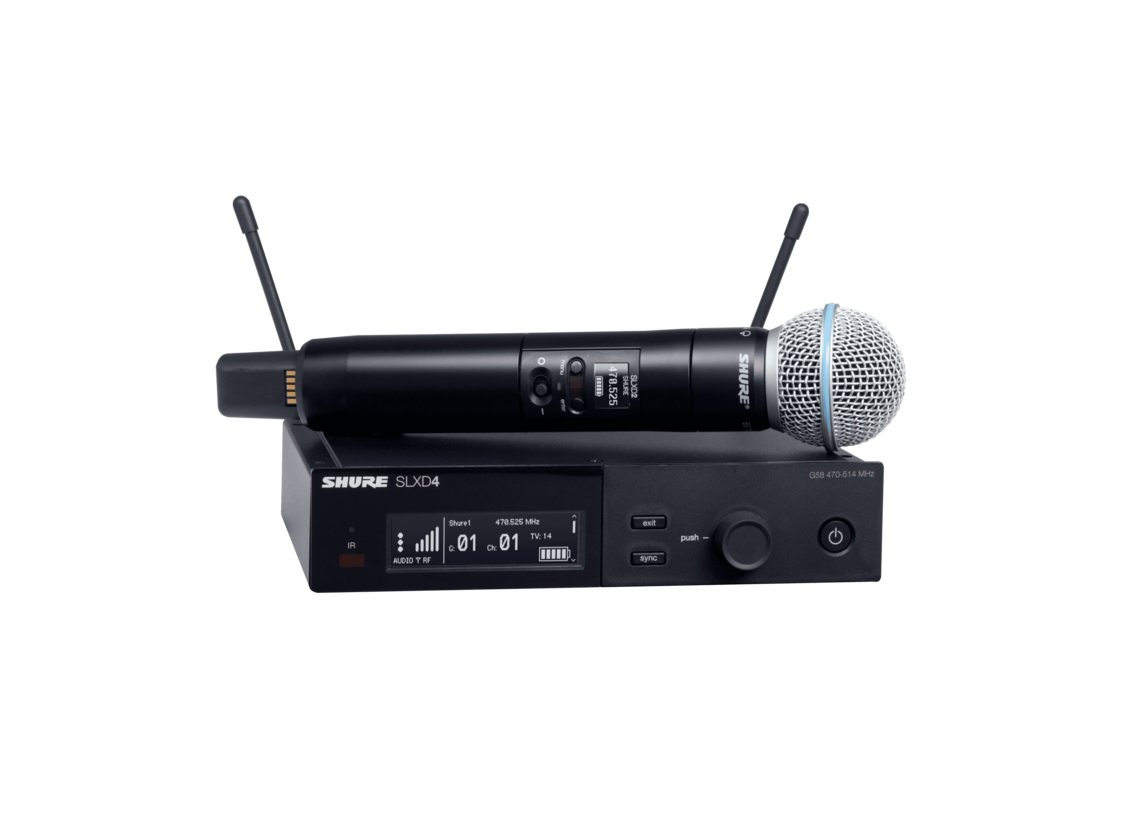 Shure SLXD24/B58 Wireless System with Beta®58A Handheld Transmitter