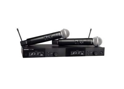 Shure SLXD24D/SM58 Dual Wireless System with 2 SLXD2/58 Handheld Transmitters