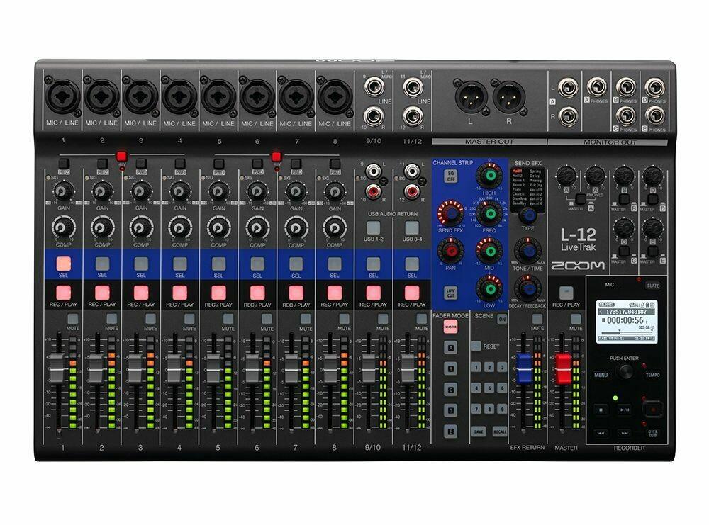 Zoom LIVETRAK L-12 (Digital Mixer + Recorder)