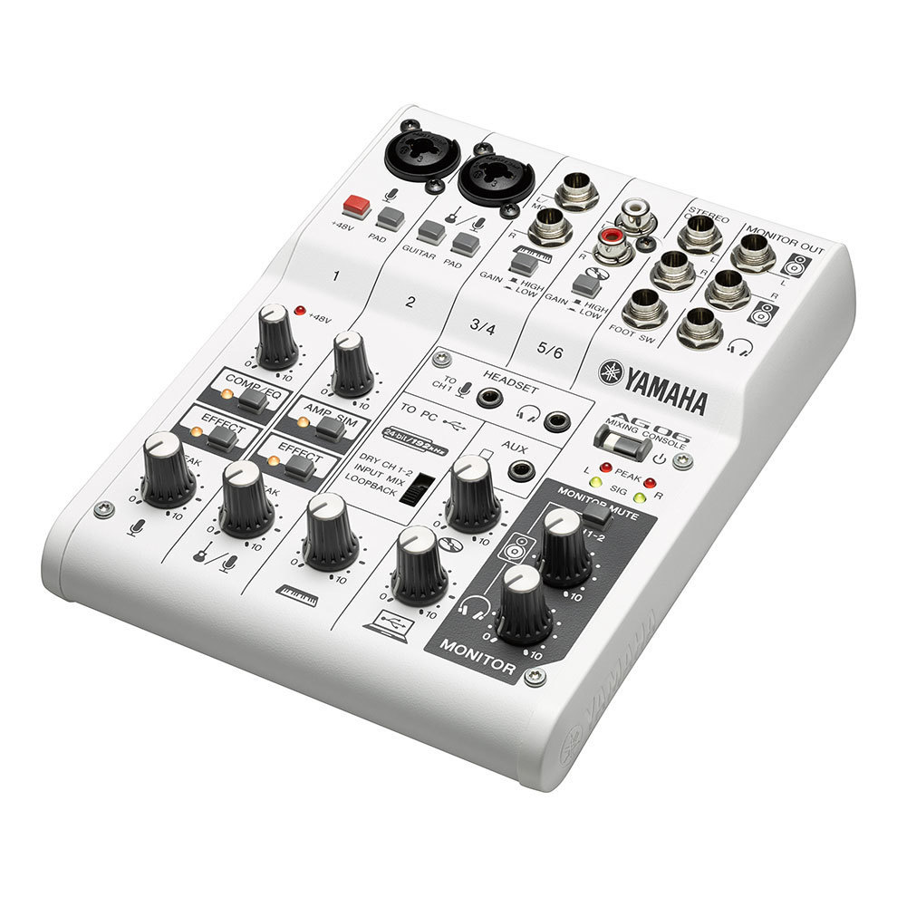Yamaha AG06 (Multi-purpose 6-channel mixer/USB audio interface)