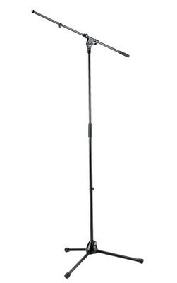 K&M 21020 Tripod Microphone Stand with Boom (Black)