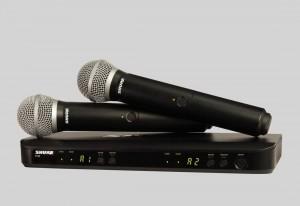 Shure BLX288/PG58 雙通道手持式無線系統