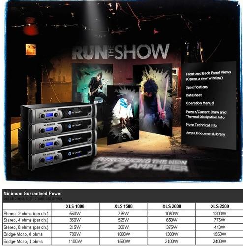 Crown amplifier XLS 1000