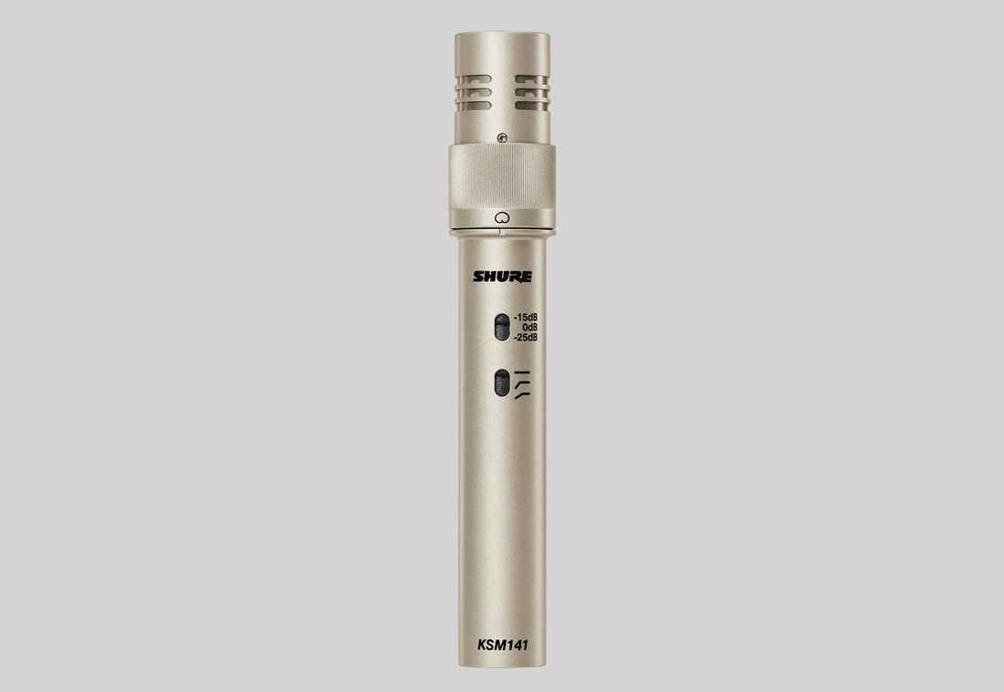 Shure KSM141 Dual Pattern Instrument microphone