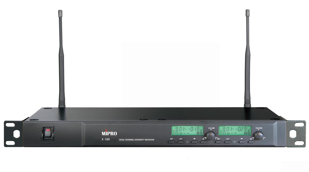 Mipro X-100 雙頻道自動選訊接收機