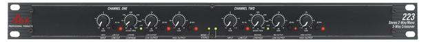 DBX 223 Stereo 2-Way/Mono 3-Way Crossover